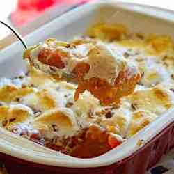 VEGAN Sweet Potato Casserole with Marshmallows