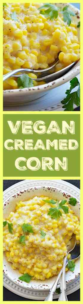 Easy Vegan Creamed Corn