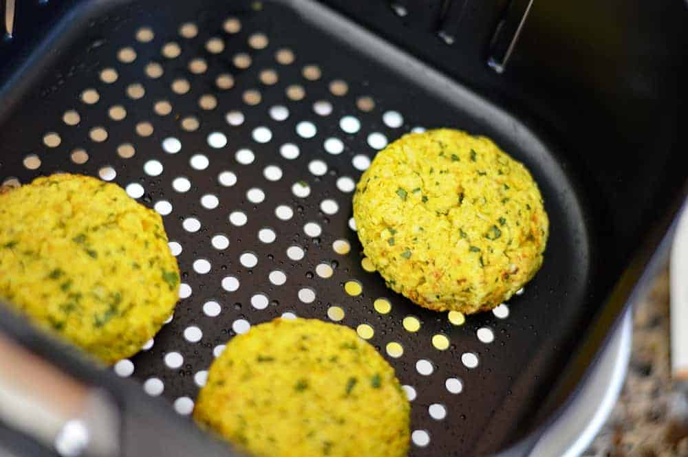 Golden Turmeric Air Fryer Falafel