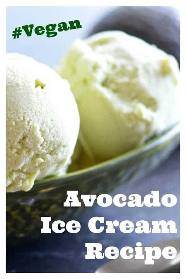 Pinterest picture of Vegan Avocado Ice Cream Recipe