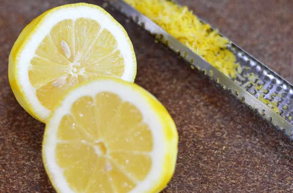 Lemons and lemon zest grated