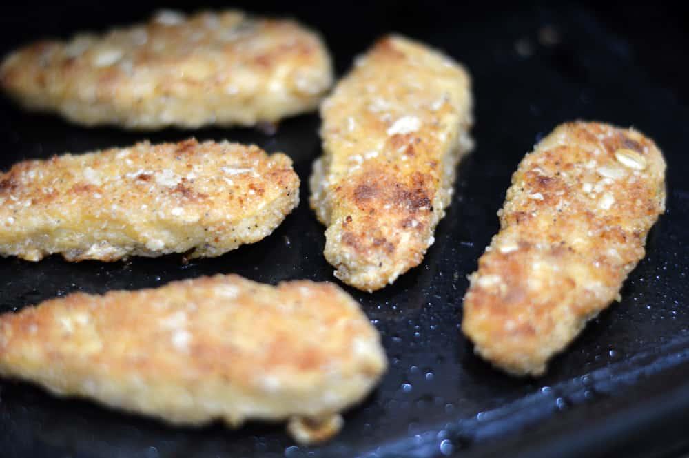 Baked Crispy Tenders for Vegan Buffalo Crispy Tender Roll Ups