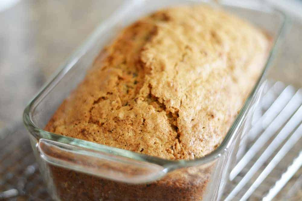 Baked loaf of Zucchini Bread Recipe
