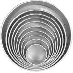 Different sizes of cake tins by Cooks & Kitchens