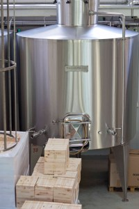 The tanks where the grapes are fermented