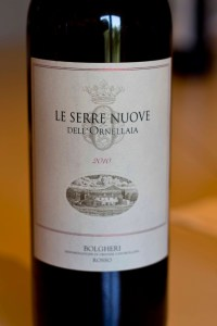 Le Serre Nuove, the second wine to Ornellaia