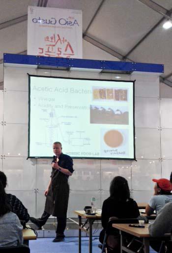 Ben Read of Nordic Food Lab presents vinegar