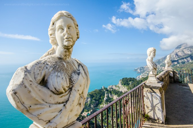 Statues at Villa Cimbrone, Ravello by Alessandro Tortora