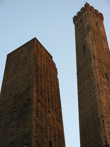 The two towers in Bologna by Poluz