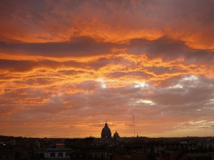 Sunset over rome by Stefan Geens