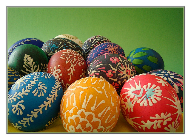 Easter eggs by Walter A. Aue