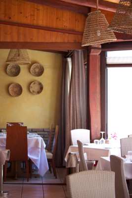 The dining room of Il Cormorano
