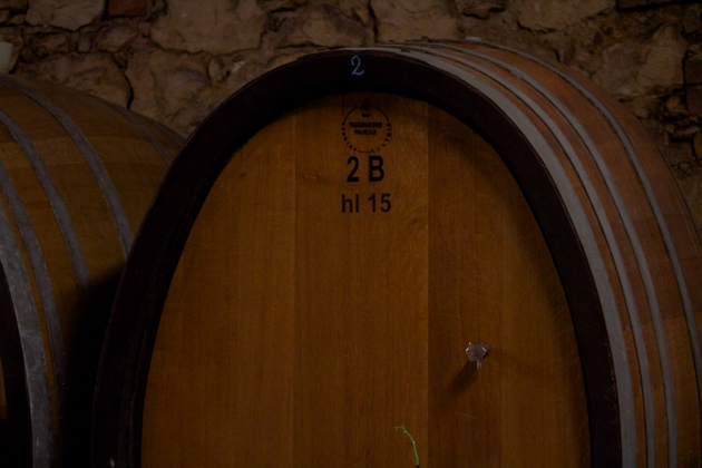 Barrel where the wine matures