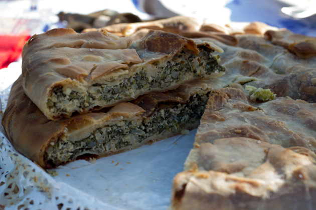 Torta verde chard and ricotta pie is from Liguria