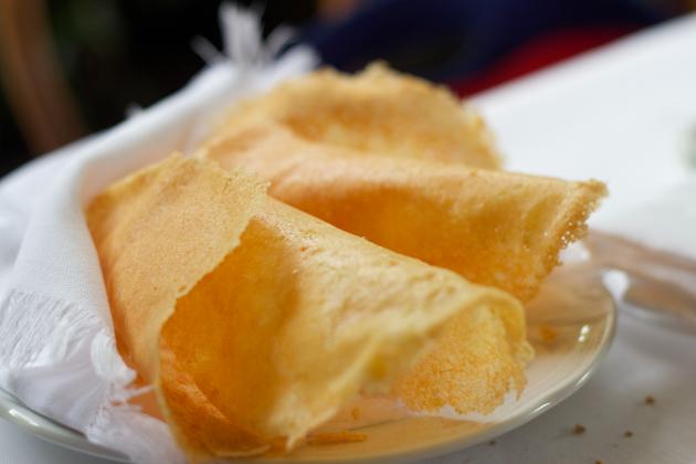Frico (crisped cheese tuiles)