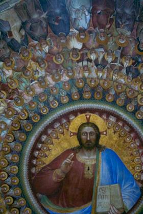 Frescoes inside the Battistero, Padova