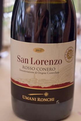 San Lorenzo Rosso Conero 2011, Umani Ronchi
