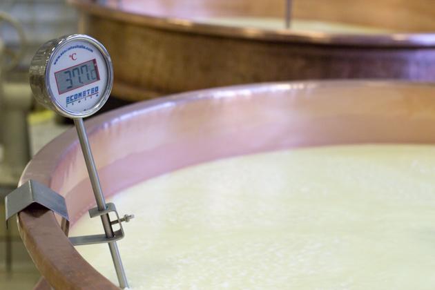 Milk being heated