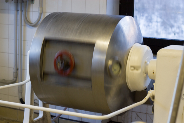 The butter being churned