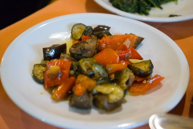 Ciabotto- baked peppers, courgette/zucchini, aubergine/eggplant and onion