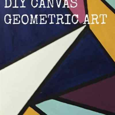 DIY Geometric Canvas Art