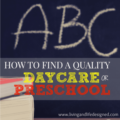 What to Look For When You're Searching for a Daycare or Preschool