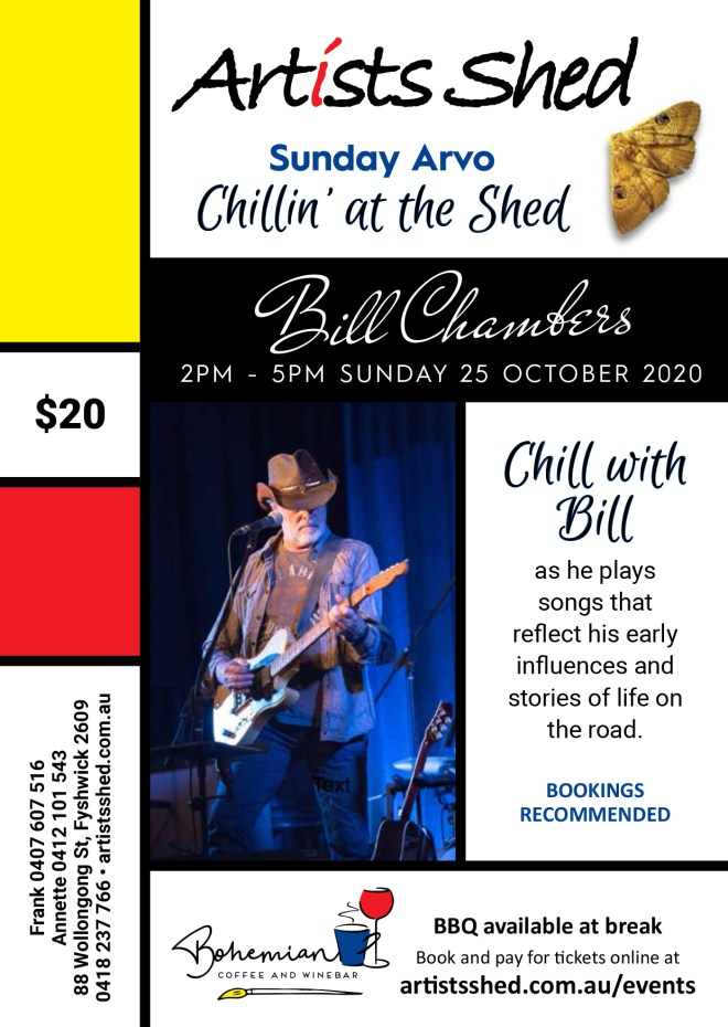 Flyer for Bil Chambers concert