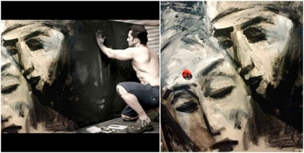 'বজরঙ্গী ভাইজান' ছবিটি করার সময় এই ছবি আঁকেন সল্লু মিঞা। পরে এটি উপহার দেন সে ছবিরই সহ-অভিনেত্রী করিনা কপূর খানকে।