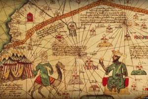 ইউরোপীয়দের আঁকা মানচিত্রে মুসার ছবি (ডানে)