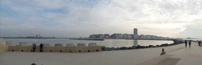 Oostende vanop de strekdam