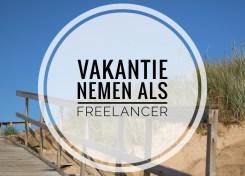 Vakantie nemen als freelancer