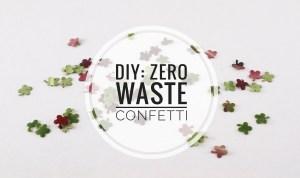 DIY zero waste confetti