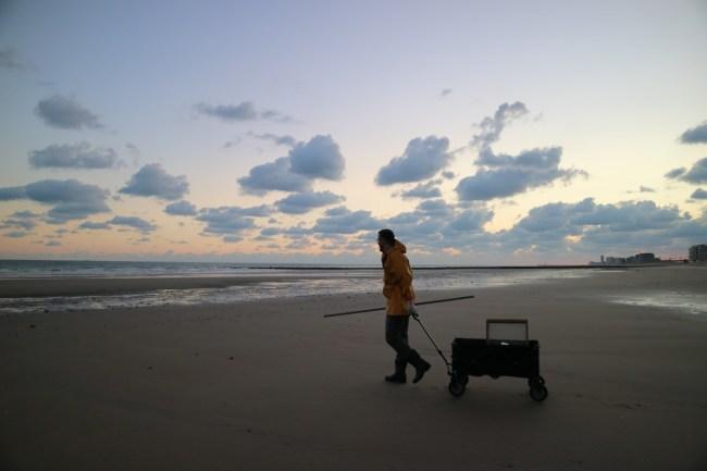 Garnaalkruien aan de Belgische kust