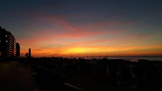 Zonsondergang Belgische kust