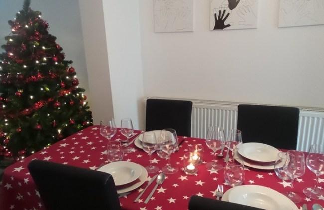 kersttafel decoratie