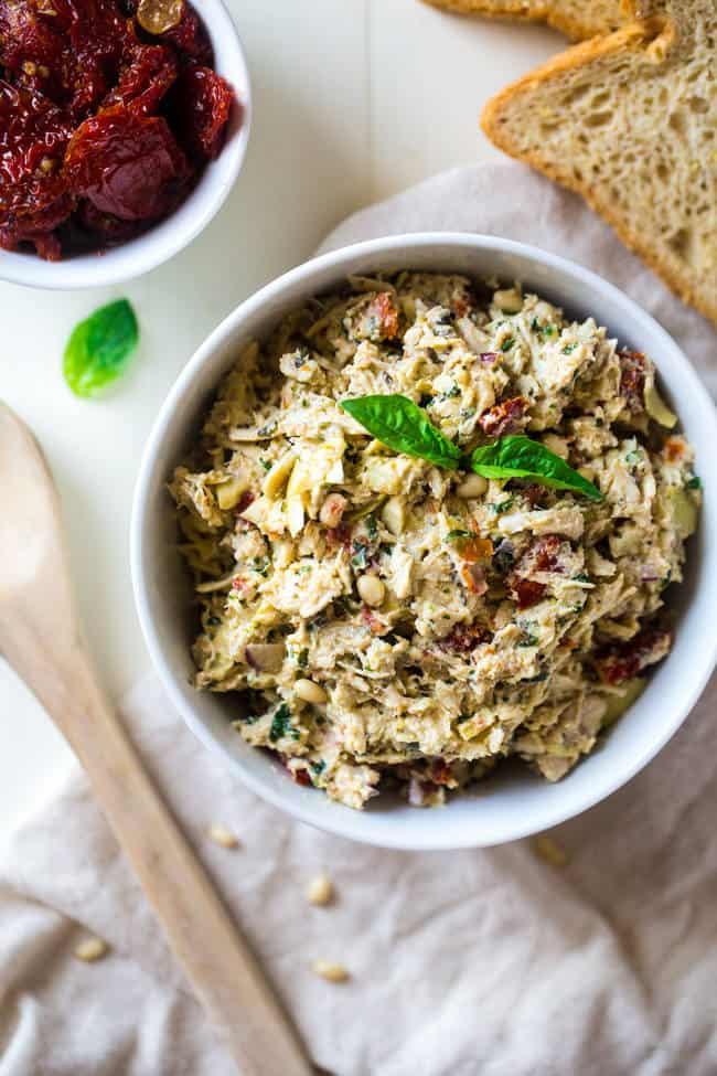 Mediterranean Greek Yogurt Chicken Salad