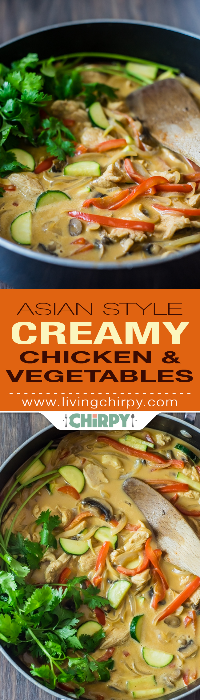 Asian-Style Creamy Chicken and Vegitables
