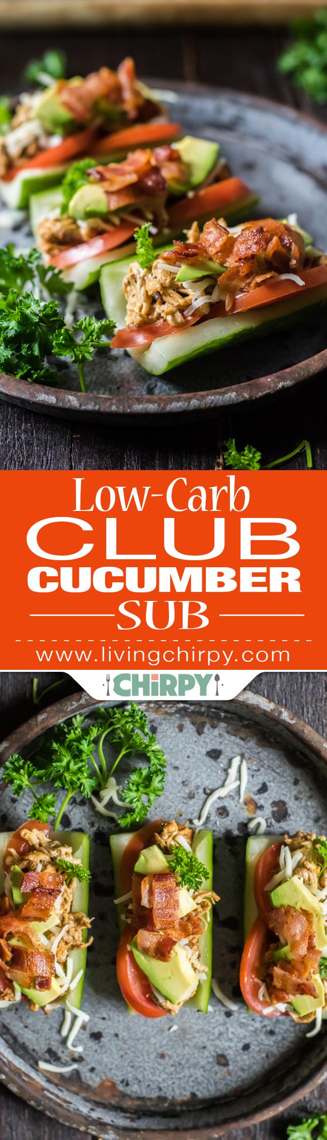 low-carb club cucumber sub