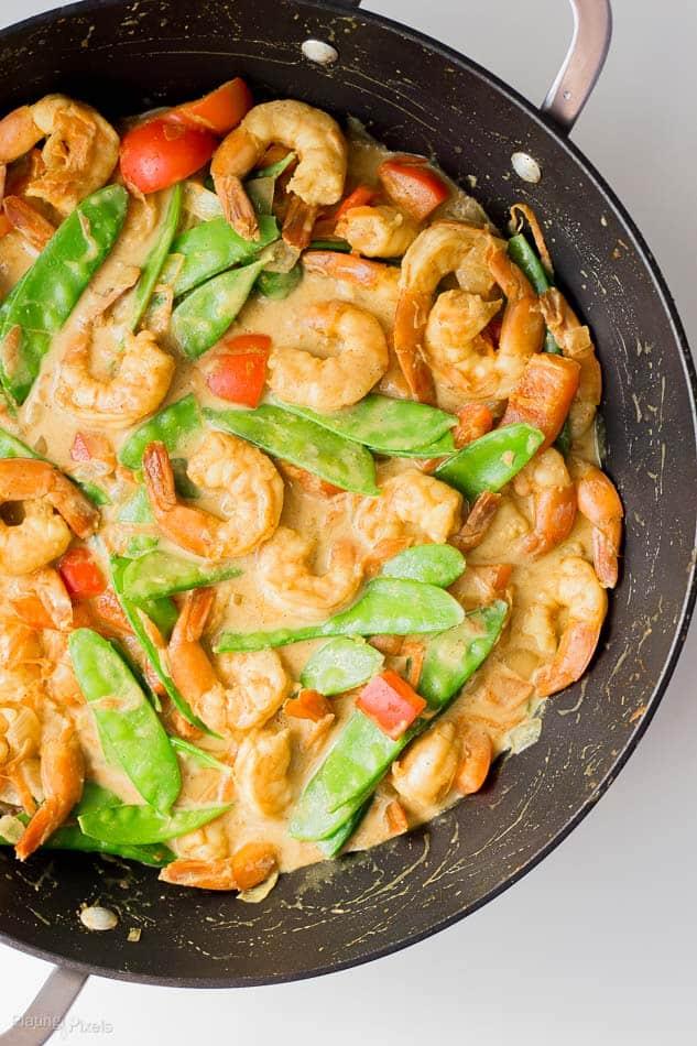 One Pot Coconut Curry Shrimp