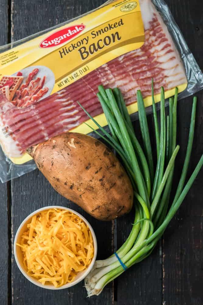 Cheesy Bacon Scallion Sweet Potato Tots-7