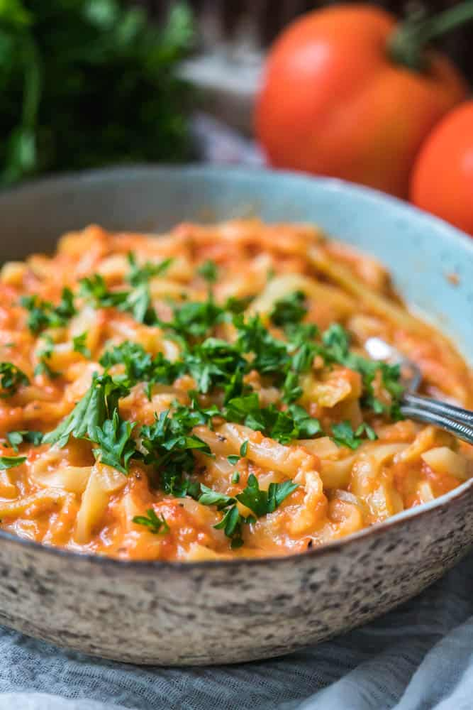 Zoodles in Cheesy Tomato Sauce