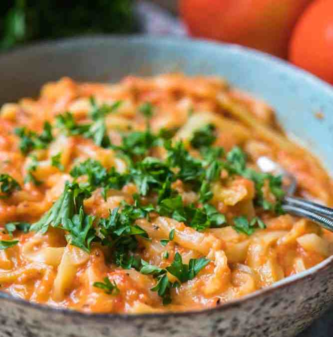 Zoodles in Cheesy Tomato Sauce, Kid-Friendly