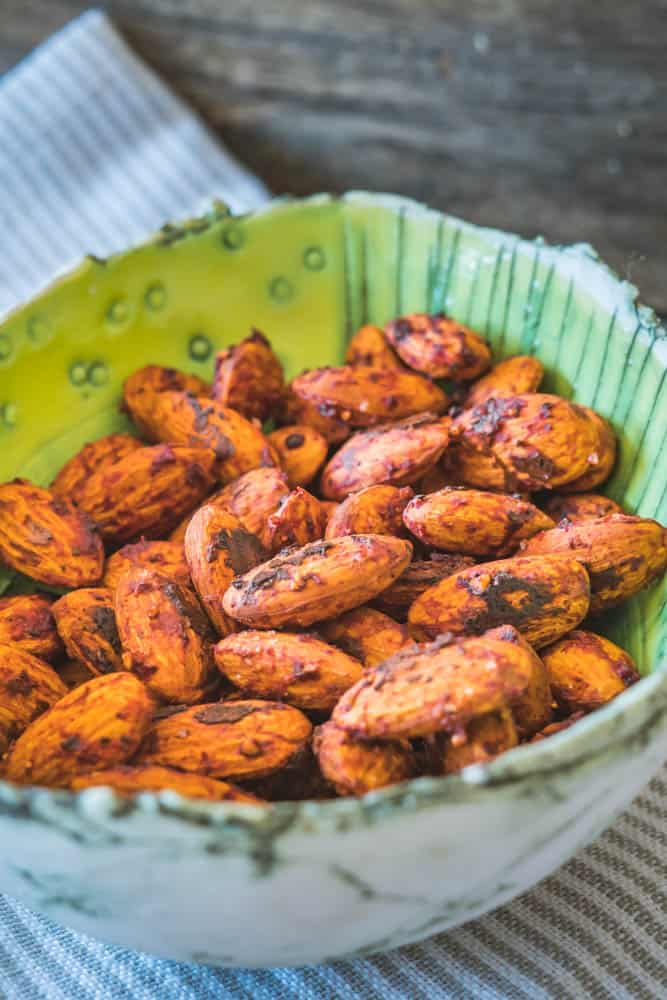 spicy tomato toasted almonds