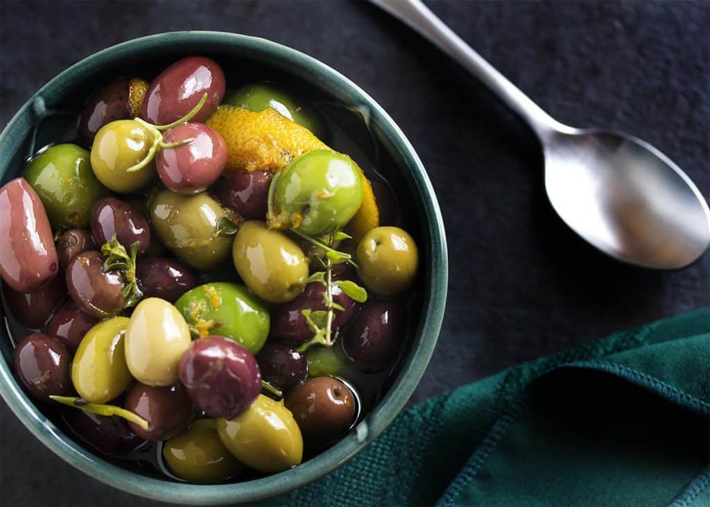 Marinated Olives with Citrus and Herbs