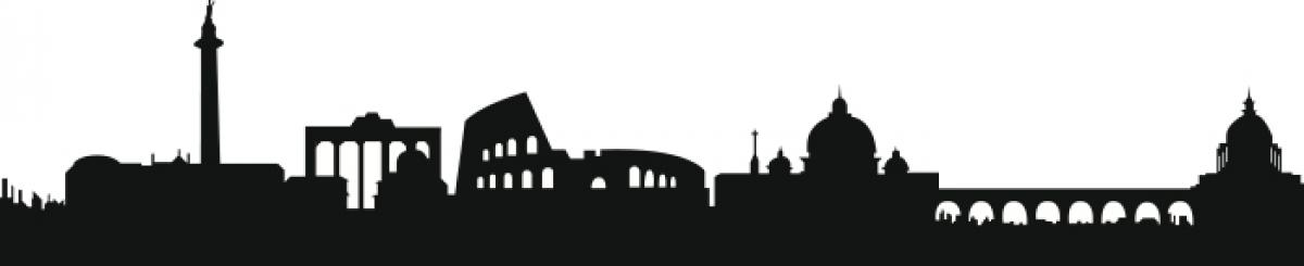 Stickers murale silhouette di Roma  LivingDECO
