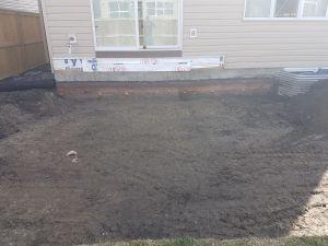 Paving stone patio construction