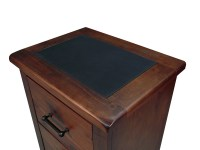 Beckett Rustic Solid Timber 3 Drawer Timber Filing Cabinet