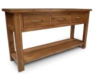 Stonybrook Mountain Ash Hardwood 3 Drawer Hall Sofa Table