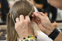 hair and makeup, backstage coverage of Zin Kato show, AFWT, image by Akin Abayomi, Livingfash media