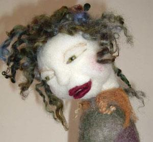Needle Felting an Art Doll Kit